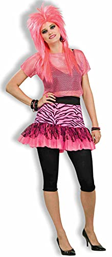Woman's 80s Pop Party Zebra Print Skirt