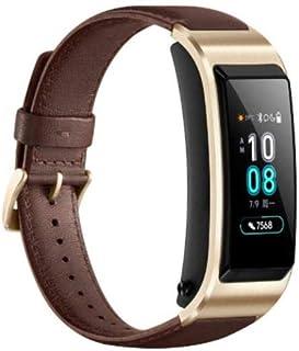 ساعة يد ذكية من هواوي توك باند بي 5 مع سوار جلدي - لون بني
