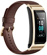 Huawei TalkBand B5 Headset Smart Wrist Band with Leather Band - Moch Brown