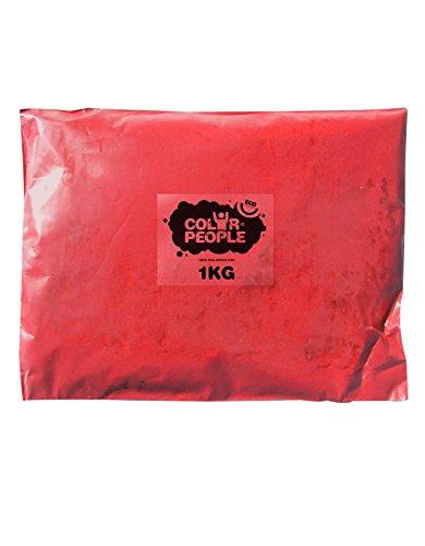 Color People - Sac De 1Kg De Poudre Colorée Holi Rouge
