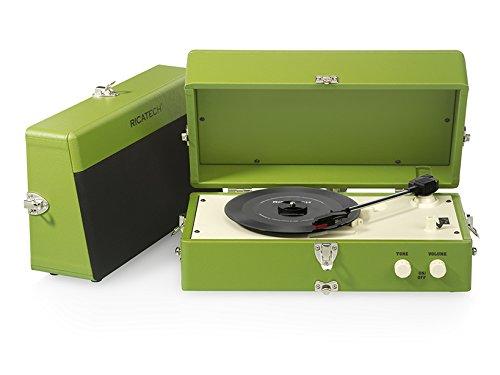 Ricatech RTT80 Vintage Turntable Plattenspieler grün