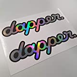 Folien-zentrum - Juego de 2 pegatinas con efecto metalizado, efecto holográfico, arcoíris, mariposas, para coche, JDM Tuning OEM Dub Decal Stickerbomb Bombing Sticker Illest Dapper Fun Oldschool