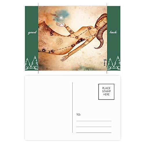 September Augustus Maagd sterrenbeeld Zodiac Good Luck Postkaart Set kaart Mailing Zijkant 20 stks