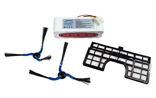 Batería, 2cepillos laterales y 2filtros para Samsung Navibot Sr/VCR 8847, 8848, 8849, 8850, 8855, 8857, 8875, 8877, 8895, 8990de Hannets-