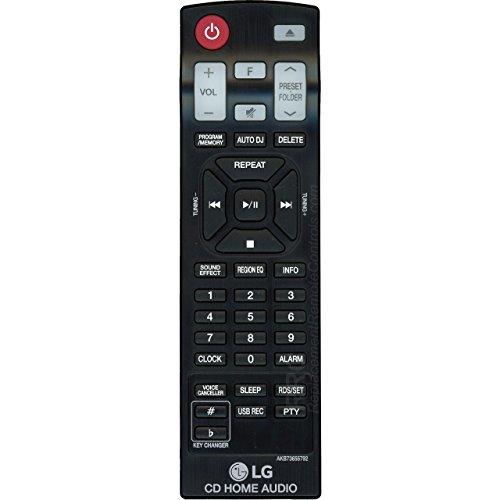 LG AKB73655792 Bookshelf Stereo System Remote Control for OM4560, OM4560FB