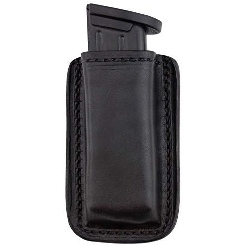 Relentless Tactical Leather Magazine Holder   Made in USA   Sizes to fit virtually Any 9mm.40.45 or .380 Pistol Mag   Single or Double Stack   IWB or OWB Double Stack Black