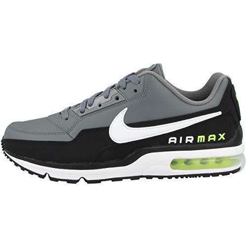 Nike Herren Air Max Ltd 3 Sneaker, Black White Smoke Grey Volt, 45.5 EU