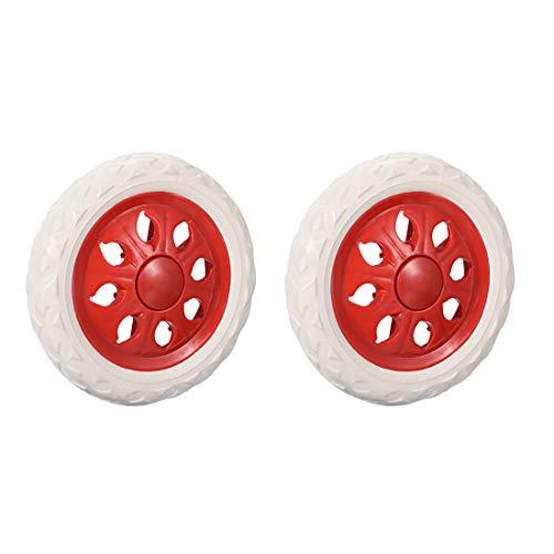 Sourcingmap - Ruedas de repuesto para carrito de la compra, 6,5 pulgadas de diámetro, goma espumada, color rojo, 2 unidades