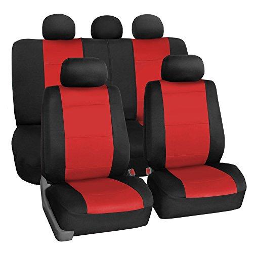 FH Group FB083RED115 Full Set Seat Cover (Neoprene...