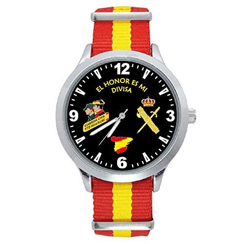Reloj G&B Guardia Civil Correa Bandera España Esfera Negra