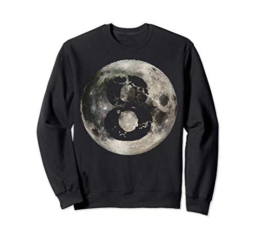 Billard à 8 boules Joueur de billard Pleine Lune Sweatshirt