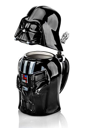 Star Wars SW01637 - Jarra de cerveza, diseño Darth Vader, 25 cm, color negro