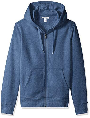 Amazon Essentials Full-Zip Hooded Fleece Sweatshirt Sweat-Shirt, Bleu (Blue Heather), Small