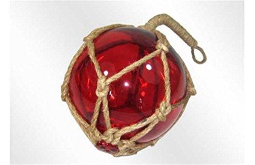 Boule de chalut 15cm Verre Rouge