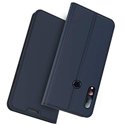 futypei für HTC Desire 19 Plus Hülle, Leder Flip Case mit Standfunktion undKartenfach Magnetisch Ledertasche Handyhülle Schutzhülle Tasche Brieftasche Etui für HTC Desire 19 Plus Blau