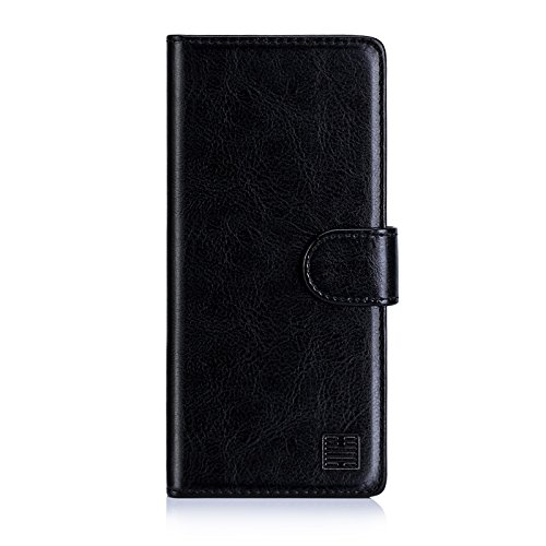 32nd Book Wallet PU Leather Flip Case Cover for BlackBerry Key2, Design with Card Slot and Magnetic Closure - Black