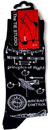 Principles of Flight Cotton Rich Socks for Men (UK: 6-11 / EUR: 40-45)
