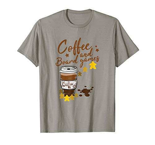 Kaffee & Brettspiele Spielfigur Morgenmuffel Würfel Karten T-Shirt