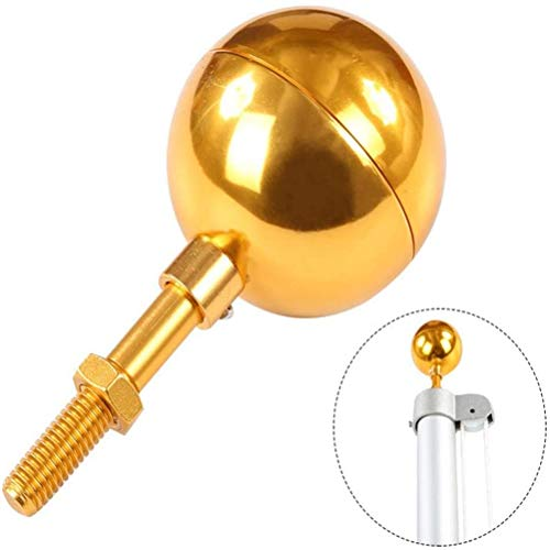 Phayee Flagpole Ball, Flagpole Ball Top Ornament, Aluminum Flag Ball, Flagpole Decoration, Gold