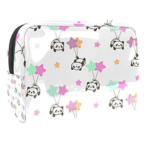 Maquillage Cosmetic Case Multifunction Travel Toiletry Storage Bag Organizer for Women - Star Balloon Panda