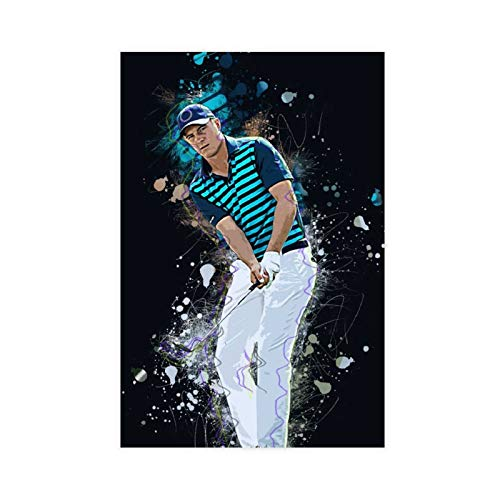 Golf Player Jordan Spieth Black Background Cool Poster 3 Canvas Poster Wall Art Decor Print Picture Paintings for Living Room Bedroom Decoration 20×30inch(50×75cm) Unframe-style1