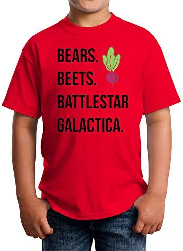 Bears Beets Battlestar Galactica Camiseta Unisex para niños 5-13 años Blanco