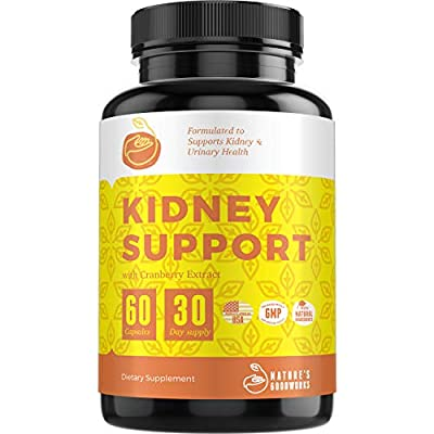Kidney Cleanse   Detox and Cleanse for Kidneys, Bladder and Urinary Tract Health   Best Cranberry Supplement to Boost Kidney Health with Cranberry Extract, Uva Ursi, Astragalus   60 Veggie Capsules from Natures Goodwill
