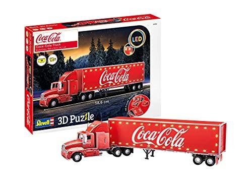 Revell 00152 Edition Coca Cola Truck-Puzzle 3D (edición LED), Color Rosso