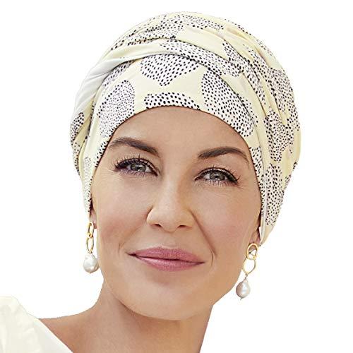 Christine Headwear Bambus Turban Shakti Bambus oder Leinen (Sommer Zitronendruck)
