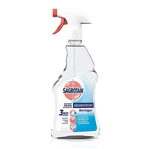 Sagrotan Desinfektions-Reiniger – Desinfektionsmittel für die tägliche, sanfte Reinigung – 3 x 500 ml Sprühflasche mit neuem Sprühkopf im Vorteilspack