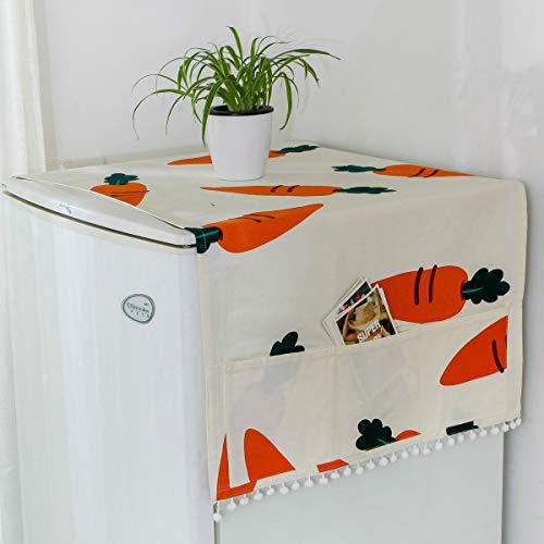 Hotgirlhot Protège poussière pour réfrigérateur,Housse de Machine à Laver,Housse de Protection Contre la poussière avec Poches,50 x 150 cm-19,6 x 51 pouces