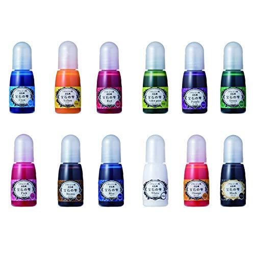 UVレジン 着色剤 宝石の雫 サンワオリジナル ラメ[シルバー] セット (12色セット)の画像