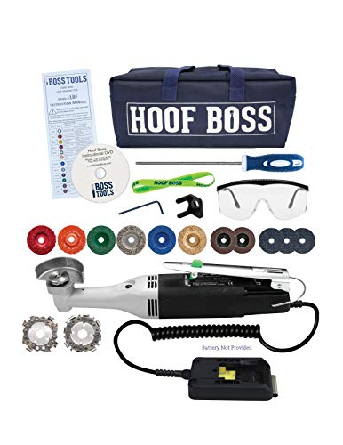 Mobile Trim-It-All Hoof Trimmer - Complete Battery Powered Trimming Set for Hooves - Accessories Included