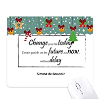 今日の引用は、あなたの人生を変える ゲーム用スライドゴムのマウスパッドクリスマス