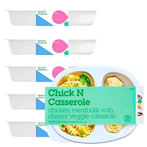 Yumble Healthy Kids Meals (pack of 6 ) | Chicken Meatballs & Broccoli Gluten-Free Pasta Frozen Kids Dinner