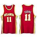 DFKGL New Men's Basketball Jersey, Atlantá Háwks Tráe Yóung # 11 Jersey Transpirable Sin Mangas Deportes Despertantes Ventilador Camisetas de Baloncesto (S-XXL) Red-XXL