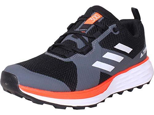 adidas Terrex Two Trail - Zapatillas de correr para hombre, color negro, talla, negro (Núcleo negro/blanco nube/rojo solar.), 43 EU