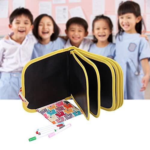 Libro de pintura borrable, libro de pintura reutilizable colorido reutilizable seguro con 12 piezas de bolígrafo de dibujo para niños para niños para pintar para regalos((14 face bears + 12 pens))