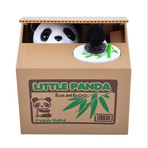 Cajas de dinero Creativa Penny Cent caja de moneda automática grabing come el dinero caja de ahorro for el niño niños oso de panda de Robo de la caja de moneda electrónica hucha Adecuado como un regal