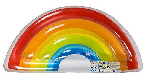 Out of the blue- Materassino Gonfiabile, Arcobaleno, Multicolore, Taglia Unica, 91/4185