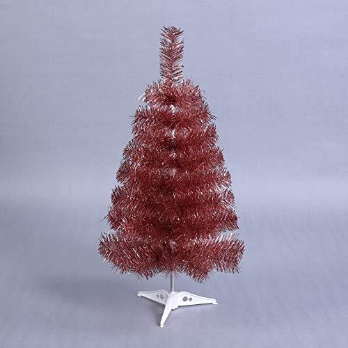 WUFANGFF Mini Albero di Natale Artificiale Piccolo Albero di Natale 60Cm Anno Nuovo Home Desktop Ornamenti Decorazioni in Plastica Bianco Albero di Natale
