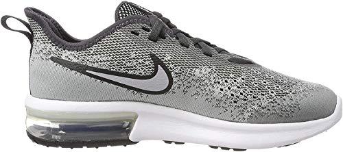Nike Air MAX Sequent 4 (GS), Zapatillas para Niños, Gris (Wolf Grey/Wolf Grey/Anthracite/White 003), 36.5 EU