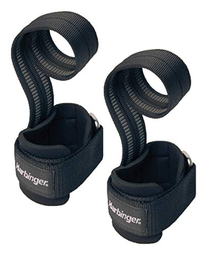 Harbinger 360531 Big Grip No-Slip Nylon Lifting Straps with DuraGrip