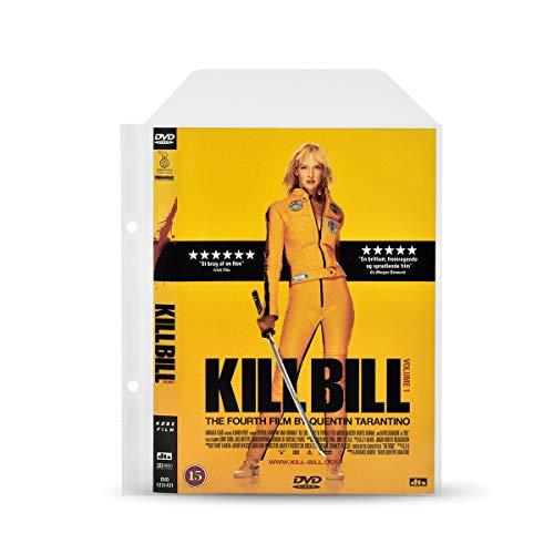 3L DVD Hüllen mit Ringbuch Löcher zur DVD-Filme Aufbewahrung – 100 Stück - Praktisch für DVD Ordner - mit Platz für DVD Cover - 10282