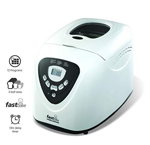 Morphy Richards Fastbake Breadmaker 3 Loaf Sizes, Gluten Free, Cool Touch, 600 W