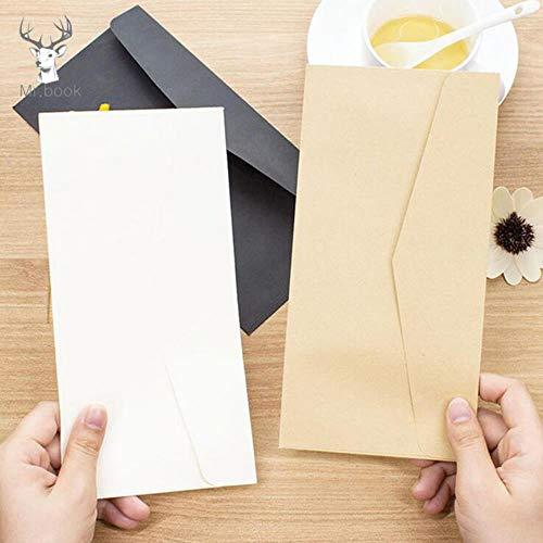 10 stücke Formale Geschäftsumschlag Schwarz Weiß Handwerk Papierumschläge für Karte Scrapbooking Geschenke Reine Farbe Papier Geld Taschen, Khaki