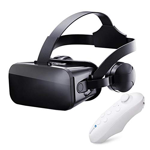 Peyan VR Headset with Remote Controller Virtual Reality Headset 3D Glasses, Anti-Blue-Light Lenses, Stereo Headset, for All Length Below 6.2 inch Include All The IOS And Andriod System Phone