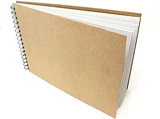 Artway Enviro - Bloc encuadernado con gusanillo - Papel cartridge 100% reciclado - Tapas de aglomerado - 170 gsm - 35 hojas - Apaisado A4