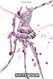 Notebook: Ink Stains Reveal A Beautiful Skeletal Ballerina In A P , Journal for Writing, College Ruled Size 6' x 9', 110 Pages