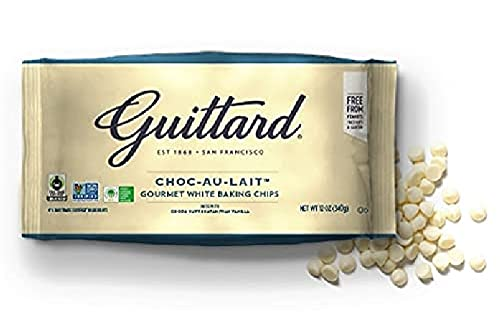 Guittard Baking Au Lait Chip, Vanilla, White chocolate, 12 Oz